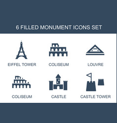 Monument icons vector