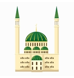 Mosque icon cartoon style vector image