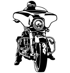motorcyclist front view vector image