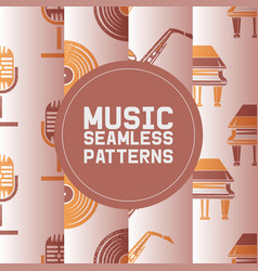 musical instruments and accessories set of vector image