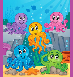 Octopus theme image 1 vector