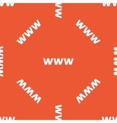 Orange WWW pattern vector