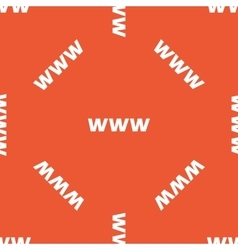 Orange WWW pattern vector image