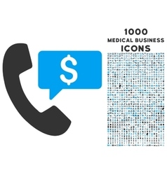 Phone Order Icon with 1000 Medical Business Icons vector image