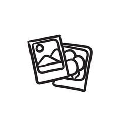 Photos sketch icon vector