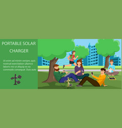 portable solar charger vector image