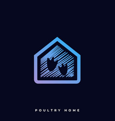 Poultry home template vector