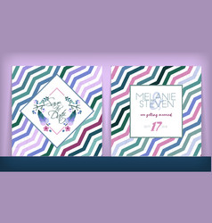 save date wedding invitation double-sided vector image
