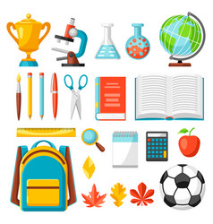 School and education items vector