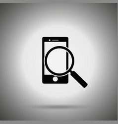 search smartphone icon vector image