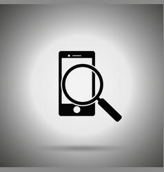 Search smartphone icon vector