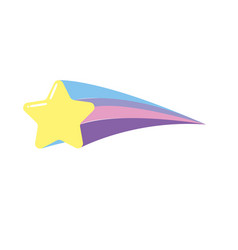 Shooting star shiny in the sky vector