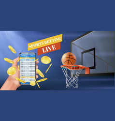 sports betting live results app banner vector image