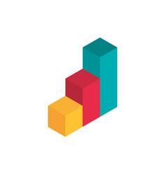 statistics diagram advertising commerce marketing vector image