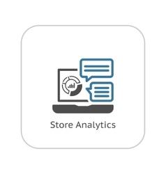 Store Analytics Icon Flat Design vector image