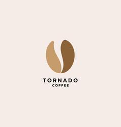 Tornado coffee logo simple logo template vector