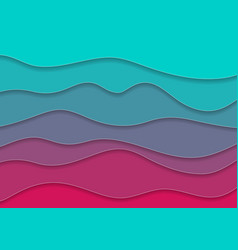 Turquoise and pink corporate waves abstract vector