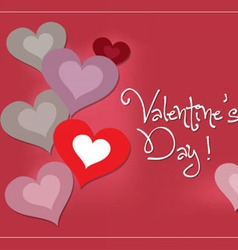 Valentine lovely with heart vector