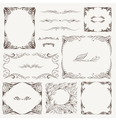Vintage Arabic Frames and Ornaments vector