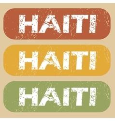 Vintage Haiti stamp set vector