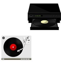 Vinyl player vector image vector image