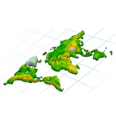 world 3d maps vector image vector image