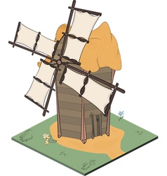 A video game object an old windmill vector image vector image