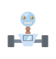 arificial intelligence robotic smiling screen vector image
