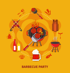 barbecue party flat vector image