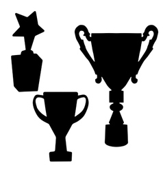 Cup Prize The award winnerThe silhouette of the vector image vector image