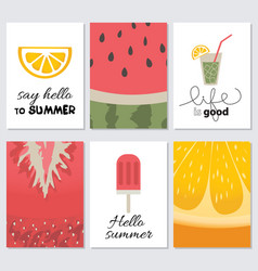 hello summer collection cards vector image vector image