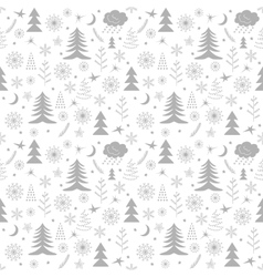Seamless Christmas pattern trees vector image