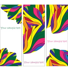 set of abstract banner vector image vector image