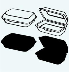 Foam meal box vector image vector image