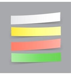 paper menu option vector image vector image