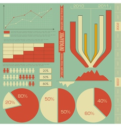 Retro elements for infographics vector image
