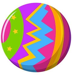 Round ball with color pattern vector image vector image