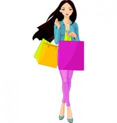 shopping diva vector image vector image
