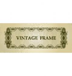 vintage decorated boarder vector image vector image