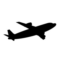 airplane fly transport commercial travel vector image vector image