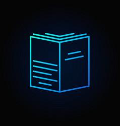 book blue concept symbol vector image