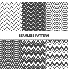 Collection of seamless pattern zigzag vector image