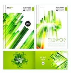 Green Abstract Brochure design set vector image