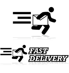 Mail service vector image vector image