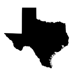 map of the US state of Texas vector image vector image