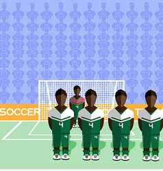 Nigeria Soccer Club Penalty on Stadium vector image vector image