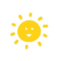 sun hand drawn vector image vector image
