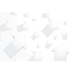 Abstract white paper arrow background vector image vector image