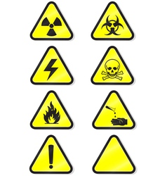 chemical warning vector image vector image
