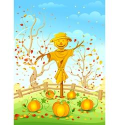 Funny scarecrow vector image vector image